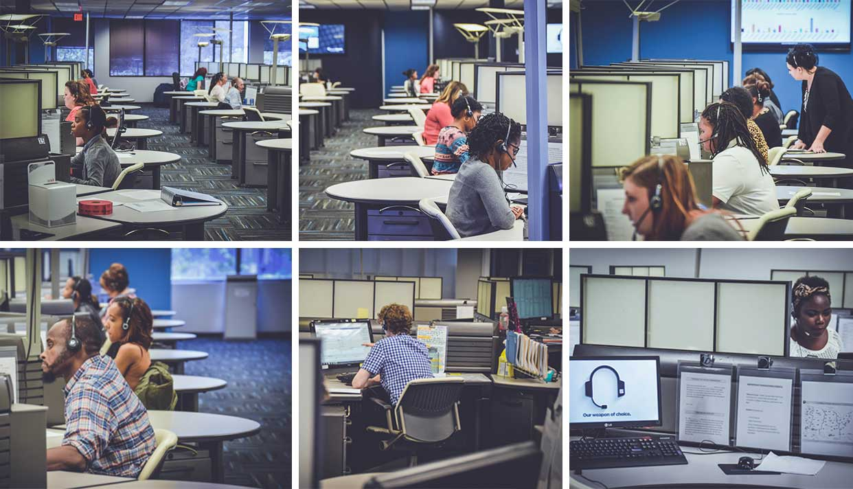 Our people in our multiple domestic call centers is what makes us who we are