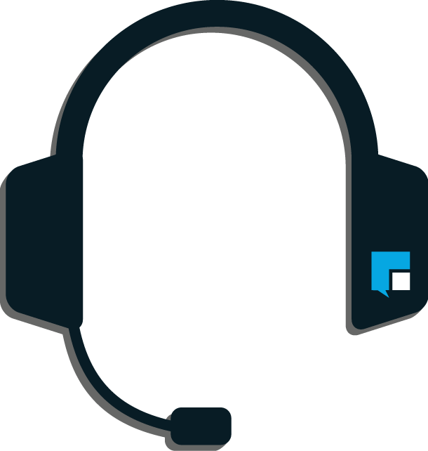 Headphones are our contact center's weapon of choice. Let us fight for your sales team.